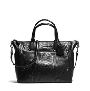 Coach exotic Mickie Black Bag