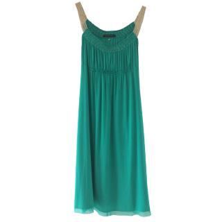 Elie Tahari Jade Green Silk Goddess Dress UK12