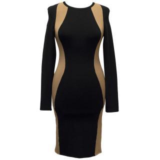 A.L.C Black and Beige Knit Dress