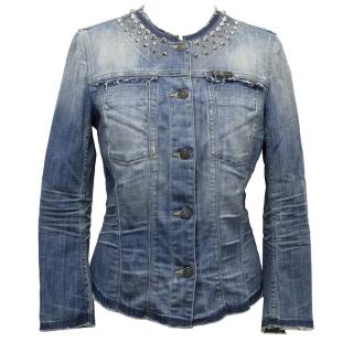 7 For All Mankind Denim Jacket With Studs