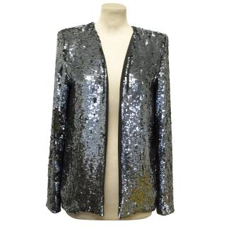 Freda Blue Sequin Blazer
