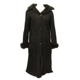 Revillon Brown Suede Long Coat