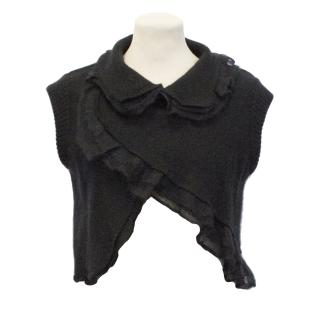 Givenchy Wool and Mohair Mix Black Gilet