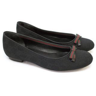 Gucci Black Ballet Flats