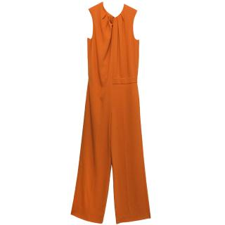 Joseph 'Terry' Orange Sleeveless Jumpsuit