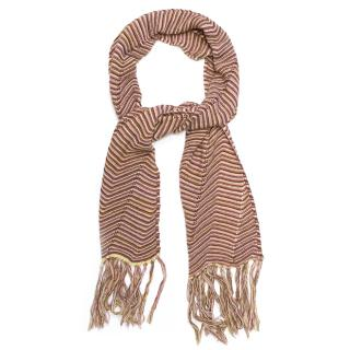 Missoni Pink and Brown Striped Scarf