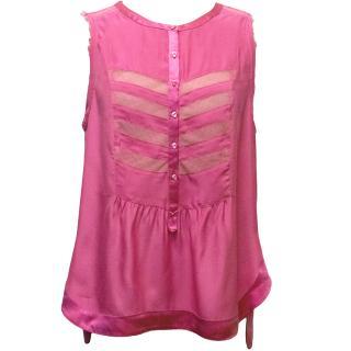 Zadig & Voltaire Deluxe Pink Silk Top
