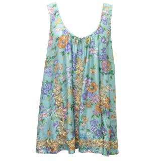 Leaves Of Grass Floral Printed Vest Top