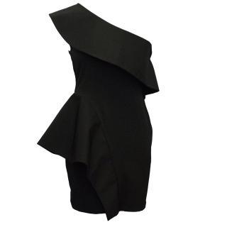 Aqua One Shoulder Dress