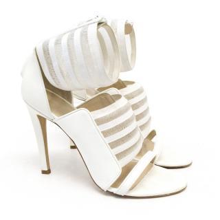 Christopher Kane White Arabella Heels