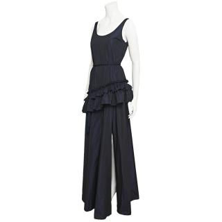 Galliano Maxi Dress With Ruffle