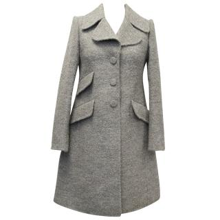 Marc Jacobs Grey Wool Mix Coat