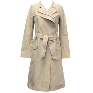Chanel Beige Silk Trench Coat