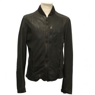 Dolce & Gabbana Dark Taupe Leather Jacket