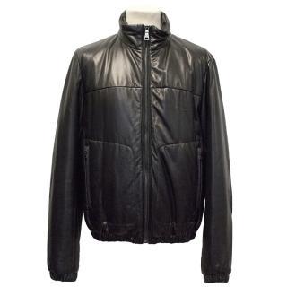 Prada Black Padded Leather Jacket