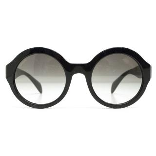 Prada Black Round Sunglasses