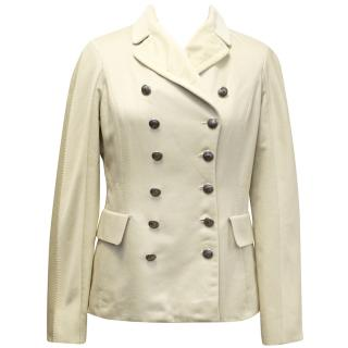 Louis Vuitton Cream Double Breasted Blazer