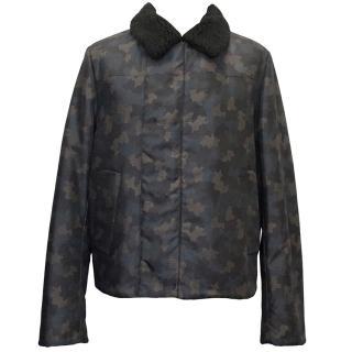 Prada Camouflage Wool Collar Jacket