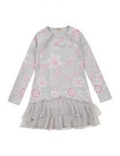 John Galliano Girls Ruffle Dress Grey / pink