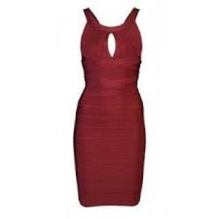 HERVE LEGER (MAX AZARIA) Red Dress