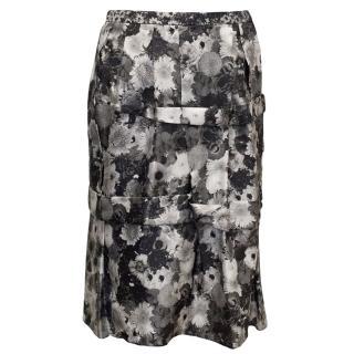 Louis Vuitton Floral Print Skirt