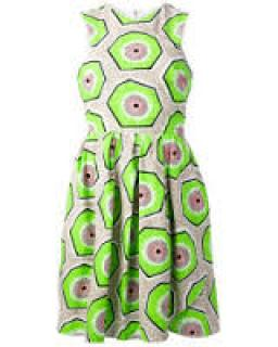 Carven Kiwi Print Dress