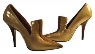 Celine Leather and Suede Loafer Heels