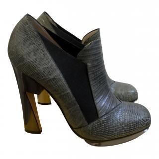 Nicholas Kirkwood grey boots