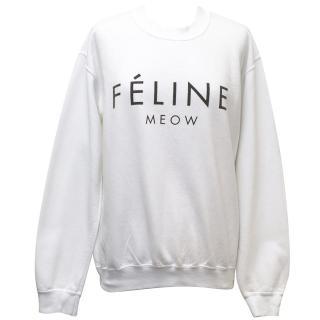 BLTEE Brian Lichtenberg White 'Feline, Meow' Jumper