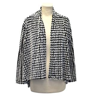 Issey Miyake Heart Haat Black And White Embroidered Jacket