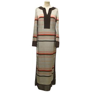 Amanda Wakeley Silver Striped Shirt Dress