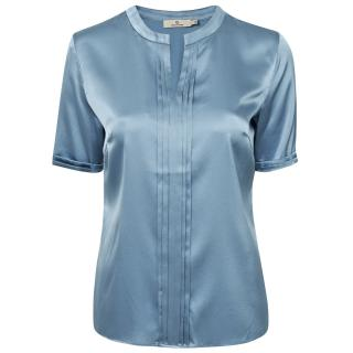 Charlotte Sparre Silk Blouse With Short Sleeves