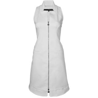 Karl Lagerfeld Cotton Dress With Front Zip