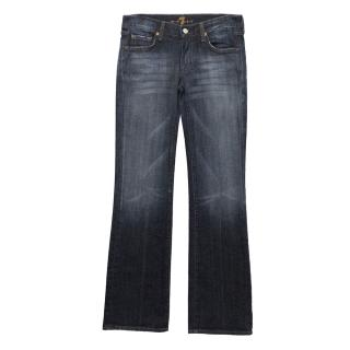 7 For All Mankind Blue Washed Jeans