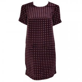 Essentiel silk dress with small print