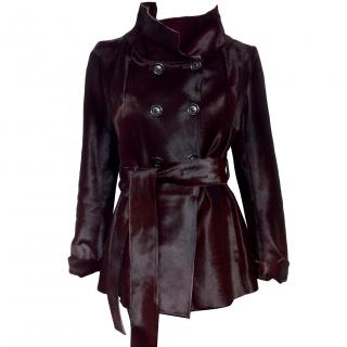 Fratelli Rossetti pony hair leather belted coat