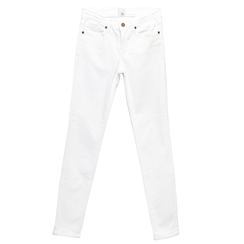 Iris and Ink Mid Rise White Jeans