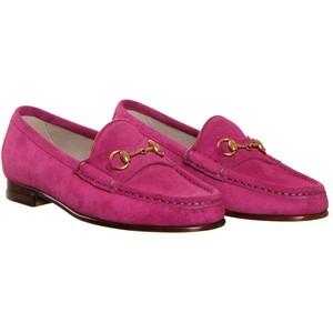 Gucci Pink Suede Horsebit Loafer | HEWI