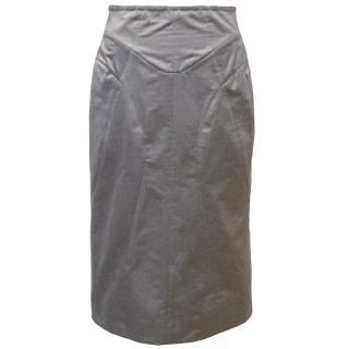 YSL Grey Pencil Skirt