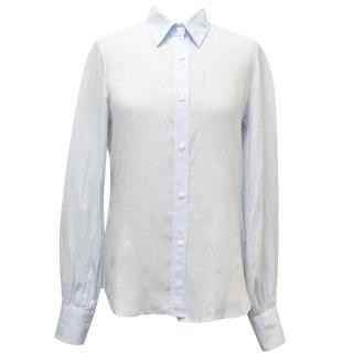 Bamford Turquoise Linen Shirt