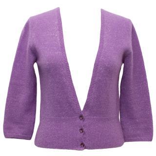 Matilde Purple Cashmere Blend Cardigan