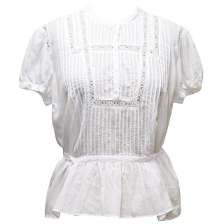 Marc Jacobs White Cotton Top