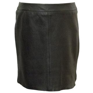 Zadig & Voltaire Deluxe Black leather mini skirt