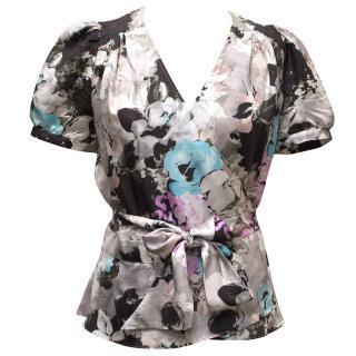 Paul & Joe Floral Print Silk Blouse
