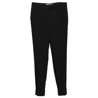 Stella McCartney Black Cady Cropped Trousers