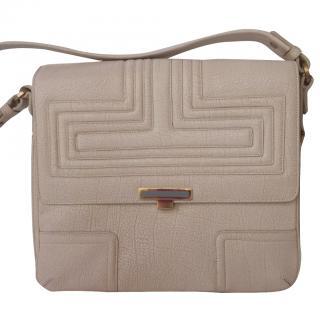 Smythson Goat Skin Leather Cream Bag