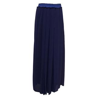 Pinko Blue Pleated Maxi Skirt