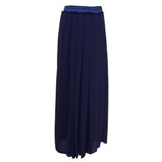 Pinko Blue Pleated Maxi Skirt