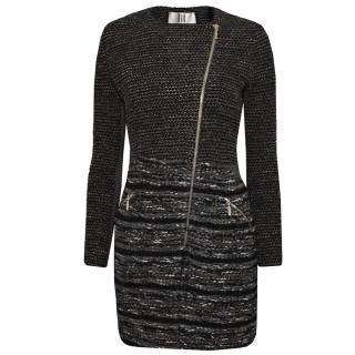 Lil pour l'Autre Wool-Blend Coat In Graphite Black