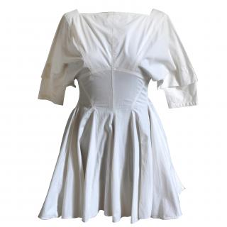 Azzedine Alaia White Cotton Dress
